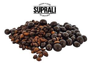 Grãos de café premium drageados em chocolate 70% cacau (200g)