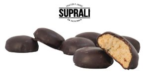 Cookies de maçã e canela banhados em chocolate 70% cacau (200g)