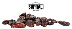 Tâmaras banhadas em chocolate 70% cacau (200g)