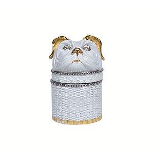 Pote Cerâmica Efeito Palha Cachorro
