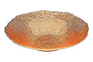 Centro decorativo vidro cor cobre