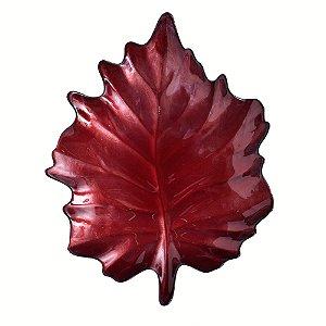 Prato Ornamental Folha Vermelha