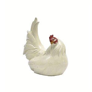 Objeto ornamentação galinha de cerãmica