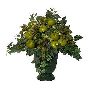 Vaso taça Brasil verde grama em louça