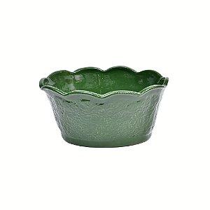 Vaso provence G verde grama em louça