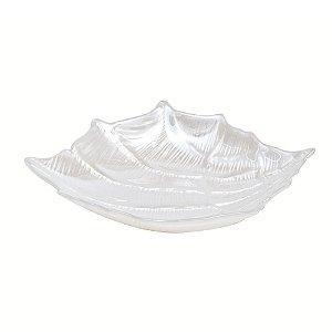 Concha decorativa em vidro pérola ibiza