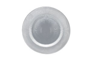 Sousplat vidro dodge prata 34 cm