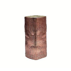 Vaso decorativo mosaico real silver cobre