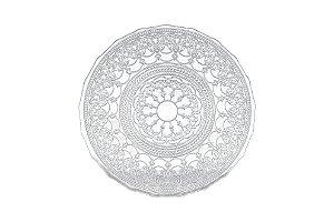 Prato raso vidro Dodge incolor 28 cm