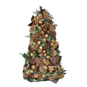 Arvore de Natal Frutas Secas e Folhagens