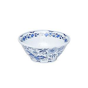Bowl de Cerâmica Azul e Branco