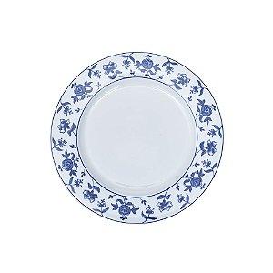 Sousplat Pintado Azul e Branco