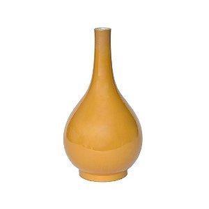 Vaso Cerâmica Amarela