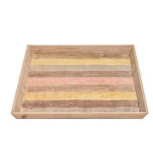 Bandeja Quadrada de Madeira 80 x 80 cm
