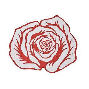 Quadro Flor Vermelha Ass. Artista Paulo Von Poser