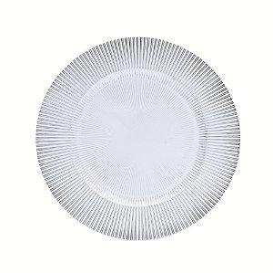 Prato sobremesa raso Vidro Luce Incolor 21 cm