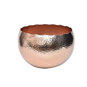 Vaso de Alumínio Redondo Dourado