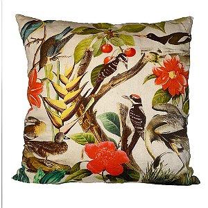 Almofada Flores e Pássaros