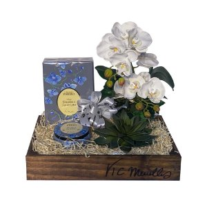 Kit Orquídea Vic Meirelles Phebo: Difusor + Vela em Caixa Personalizada
