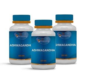 2 Ashwagandha 500mg (60 cápsulas) e ganhe 1 - Bioshopping