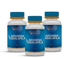 2 L arginina 3g+ Tadalafila 10mg (60 cápsulas cada) e ganhe 1 - Bioshopping