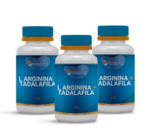 2 L Arginina 3g + Tadalafila 15mg (60 cápsulas) e ganhe 1 - Bioshopping