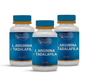 2 L Arginina 250mg + Tadalafila 20mg (60 cápsulas cada) e ganhe 1 - BioShopping
