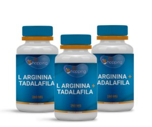 2 L Arginina 250mg + Tadalafila 10mg (60 cápsulas) e ganhe 1 - BioShopping
