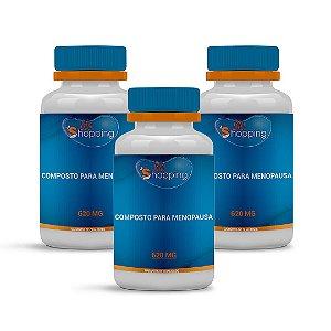 2 Composto para Menopausa 620mg ganhe 1 (60 cápsulas cada) - Bioshopping