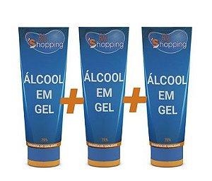 kit 3 Álcool Em Gel 100g - Bioshopping