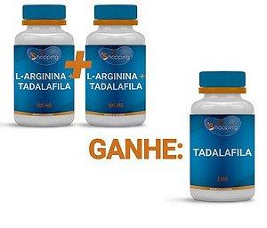 KIT 2 Potes de L Arginina + Tadalafila  e Ganhe 1 Pote de Tadalafila - Bioshopping