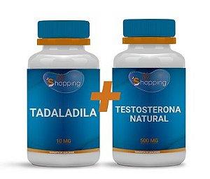 KIT 1 Pote de Tadalafila + 1 Pote de Testosterona Natural - BioShopping