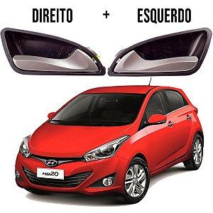 Kit com dois 2 Puxadores Maçanetas Gatilhos Internas Hyundai Hb20 Alta Qualidade Duraveis