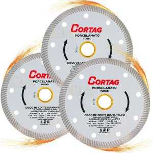 KIT 3 Disco Diamantado Porcelanato 110MM 60863 - CORTAG