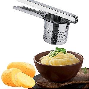 Espremedor Amassador De Batatas E Legumes Em Aço Inox Reforçado Attuale Purê Profissional
