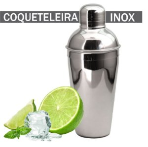 Coqueteleira Drinks Aço Inox Prática Barman Profissional 500ml Plasvale