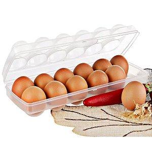 Caixa Para Ovo De Galinha De 12 Unidades Com Tampa PLASVALE Porta Ovos De Plastico Translucido Armazenagem Pratico