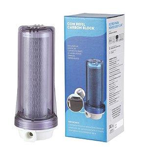 Filtro Agua 9 3/4 Ponto De Uso Pou Carvão Ativado Bbi 230 Remove Cloro Para Torneira Anticloro