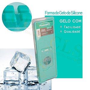 Forma De Gelo Com Tampa Fundo De Silicone Prática 26cm Plasvale Enche Fácil Resistente
