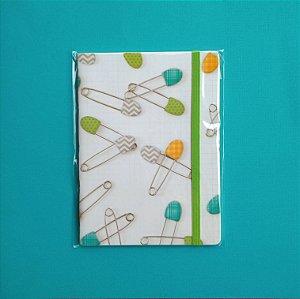 Caderno Alfinete Verde