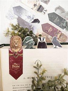 Hogwarts Casas | Marca Páginas Magnéticos ♦ Individual