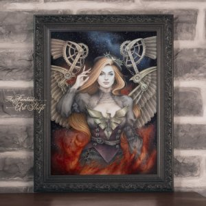 PRÉ-VENDA | Jean Grey Steampunk | Gravura Fine Art • Pintura aquarela A2, arte geek, decoração geek
