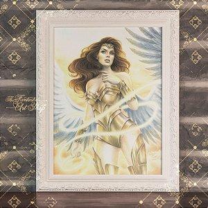 PRÉ-VENDA | Mulher Maravilha 84 | Gravura Fine Art • Pintura aquarela A2, arte geek, decoração geek