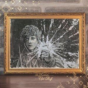 O Bravo Sam | Gravura de alta qualidade • Pintura em nanquim A3, arte fantástica, ilustração O Senhor dos Anéis