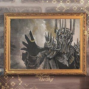 Sauron | Gravura de alta qualidade • Pintura em nanquim A3, arte fantástica, ilustração O Senhor dos Anéis