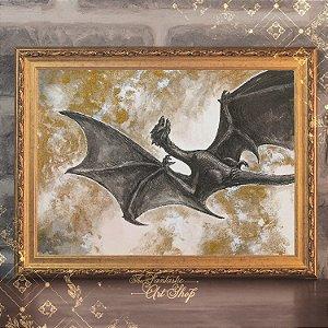 Cinzas | Gravura de alta qualidade • Pintura em nanquim A3, arte fantástica, ilustração O Hobbit