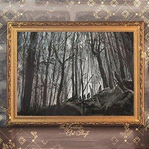 Hobbits | Gravura de alta qualidade • Pintura em nanquim A3, arte fantástica, ilustração O Senhor dos Anéis