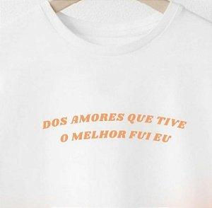 Camiseta Melhor Amor branca