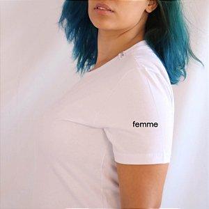 Camiseta Femme branca