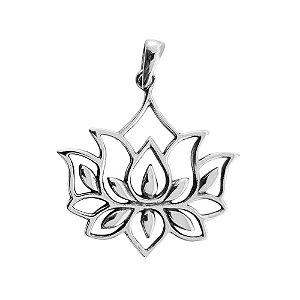 Pingente Lotus Flower Grande - Prata 925